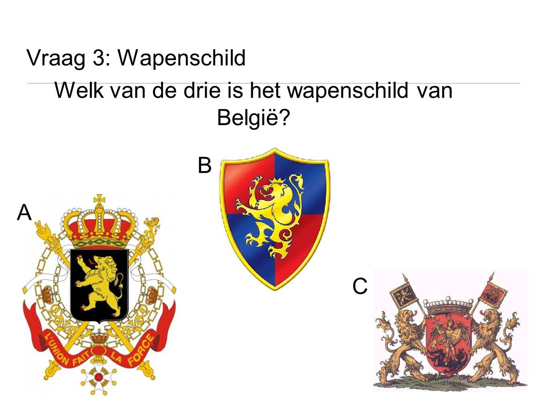 Welk van de drie is het wapenschild van België