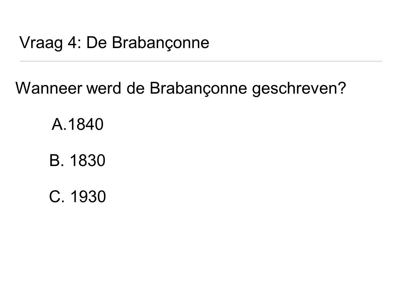 Wanneer werd de Brabançonne geschreven