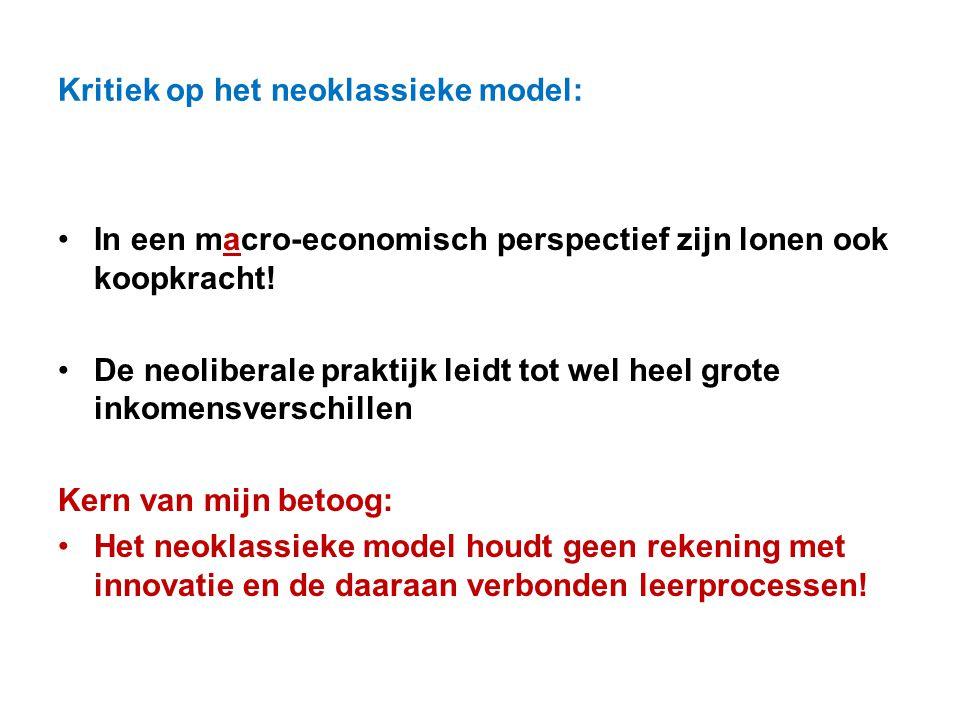 Kritiek op het neoklassieke model:
