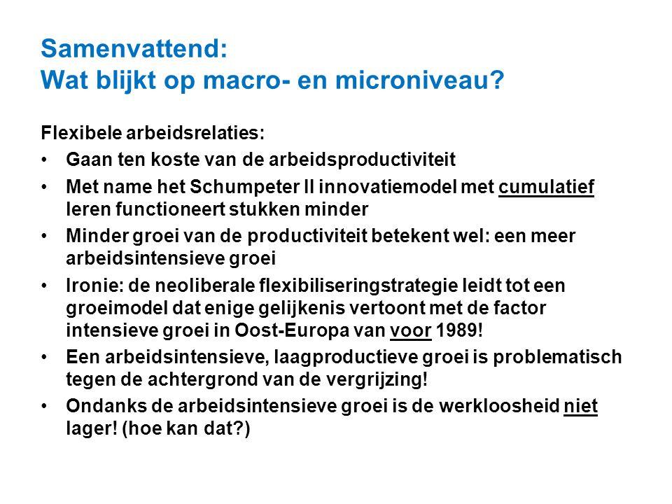 Samenvattend: Wat blijkt op macro- en microniveau
