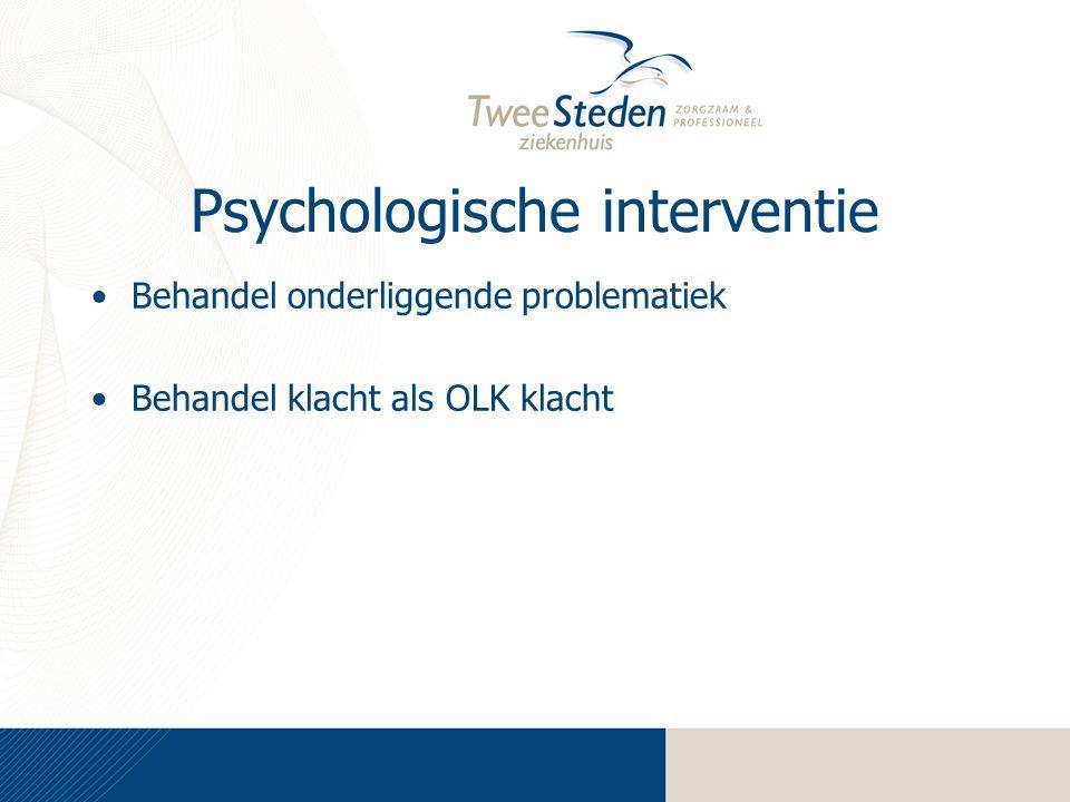 Psychologische interventie