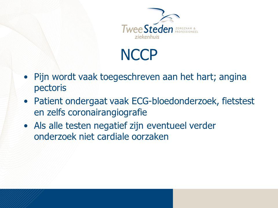 NCCP Pijn wordt vaak toegeschreven aan het hart; angina pectoris