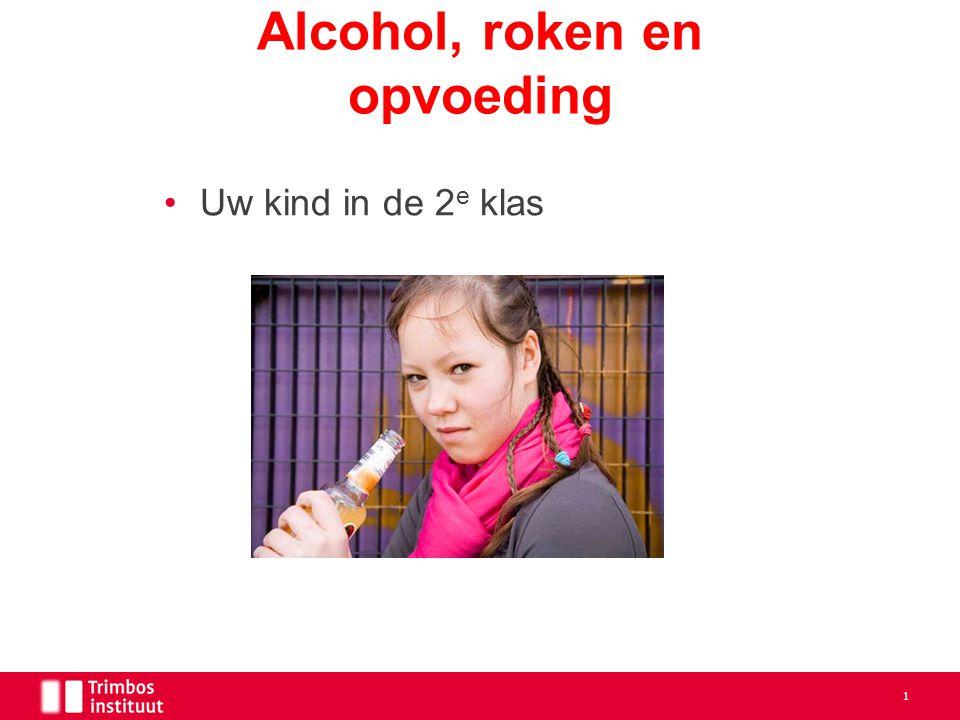 Alcohol, roken en opvoeding