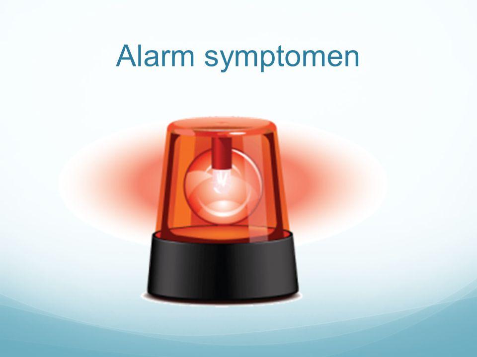 Alarm symptomen