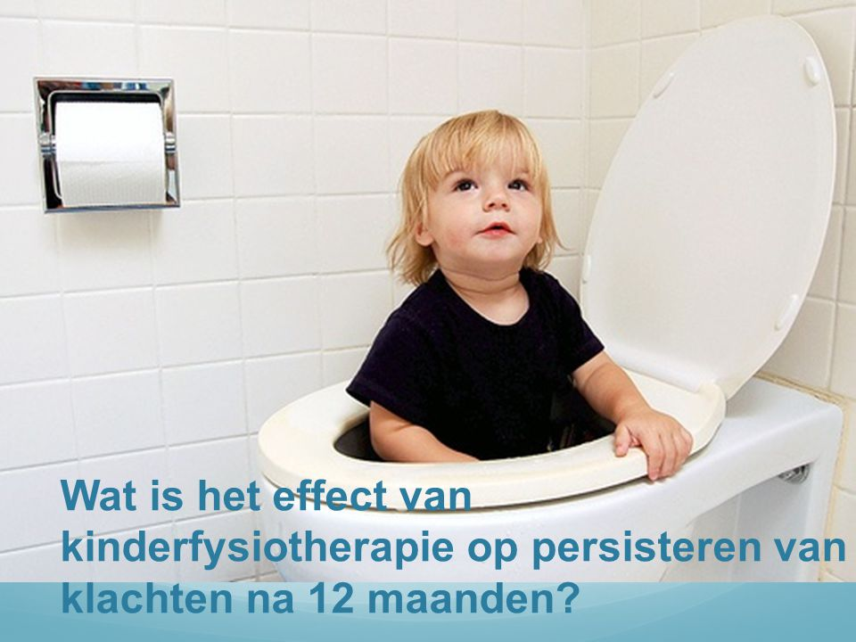 Wat is het effect van kinderfysiotherapie op persisteren van klachten na 12 maanden