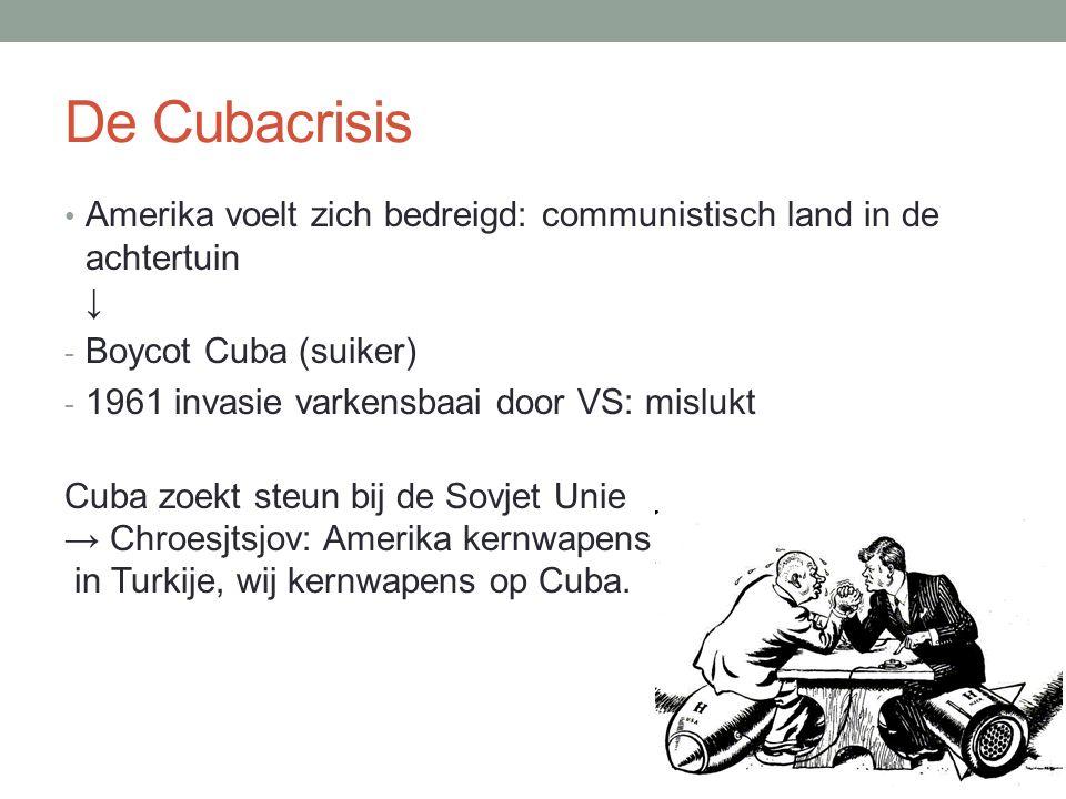 De Cubacrisis Amerika voelt zich bedreigd: communistisch land in de achtertuin ↓ Boycot Cuba (suiker)