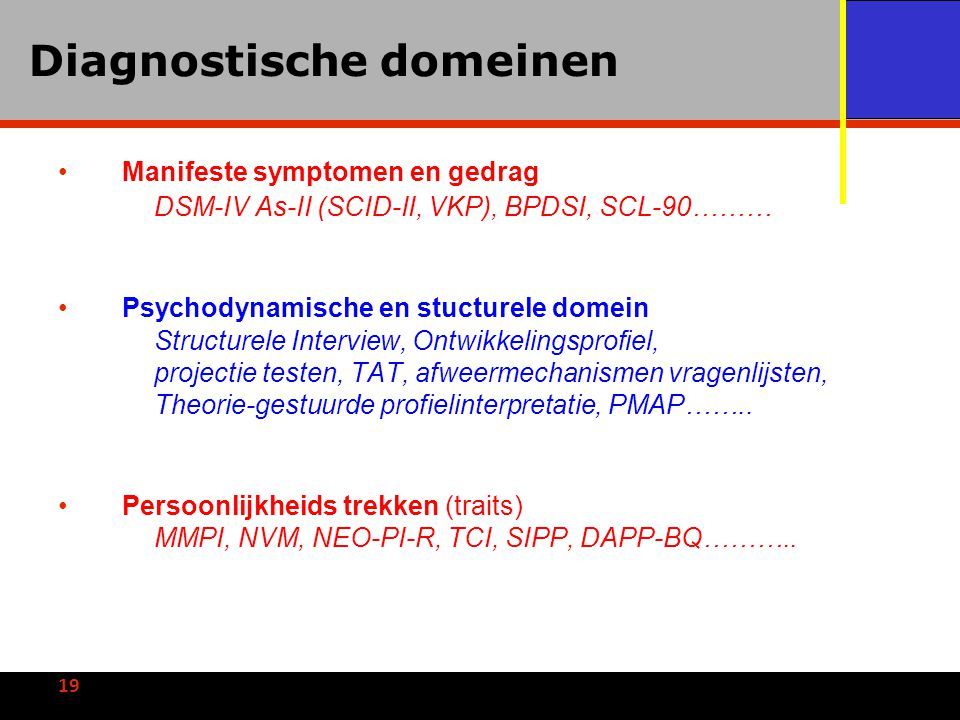 Diagnostische domeinen