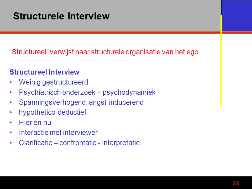 Structurele Interview