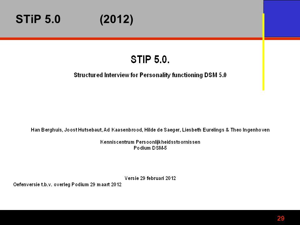 STiP 5.0 (2012)