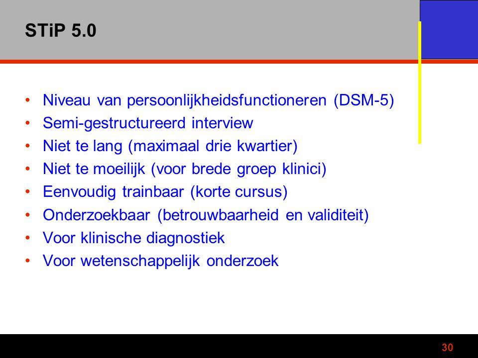 STiP 5.0 Niveau van persoonlijkheidsfunctioneren (DSM-5)