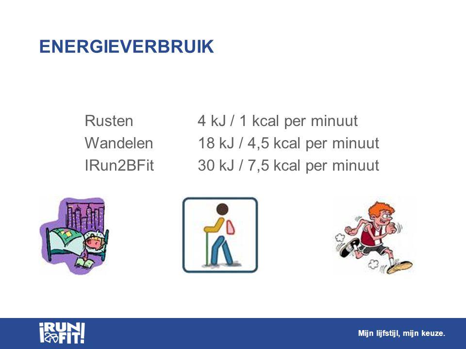 ENERGIEVERBRUIK Rusten 4 kJ / 1 kcal per minuut