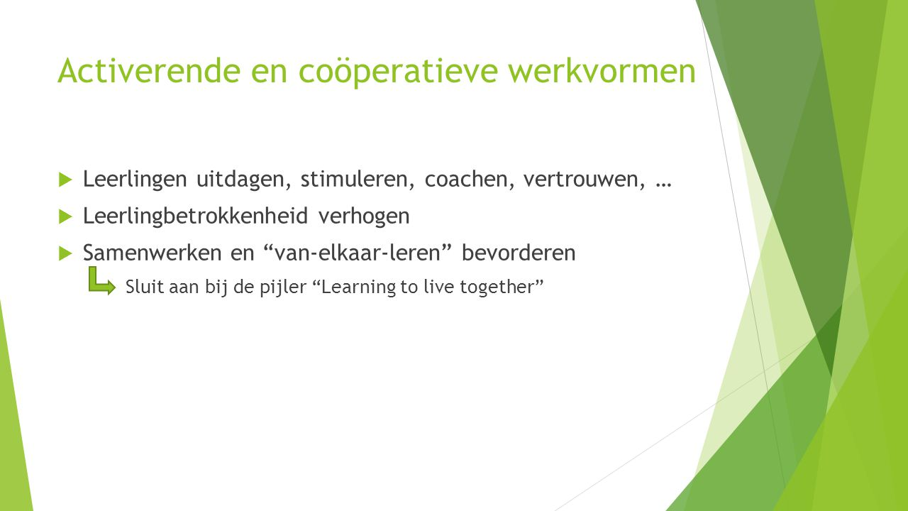 Activerende en coöperatieve werkvormen