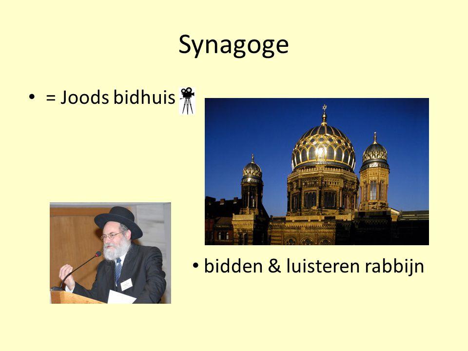 Synagoge = Joods bidhuis bidden & luisteren rabbijn