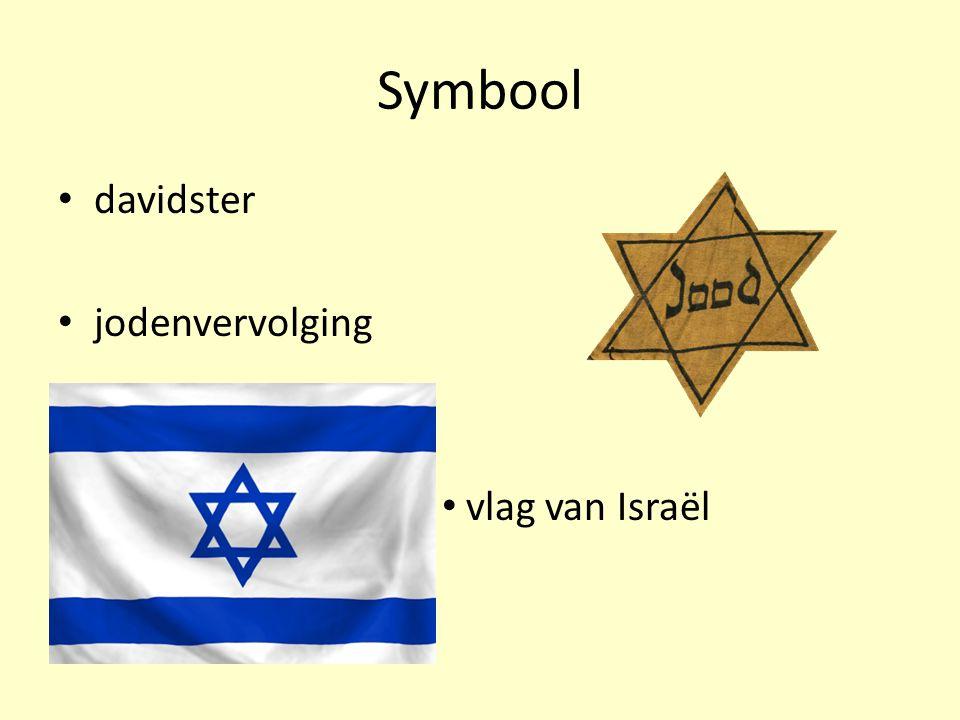 Symbool davidster jodenvervolging vlag van Israël
