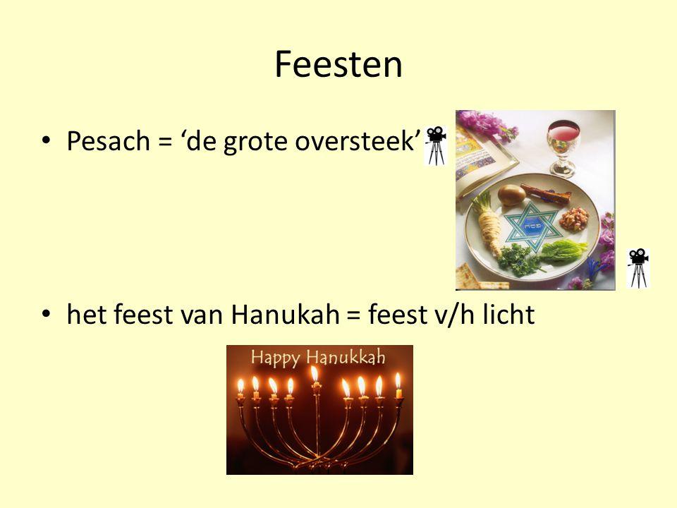 Feesten Pesach = 'de grote oversteek'