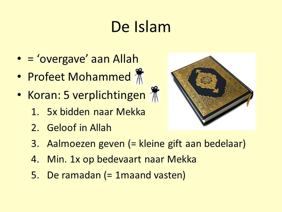 De Islam = 'overgave' aan Allah Profeet Mohammed
