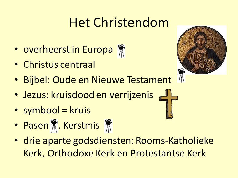 Het Christendom overheerst in Europa Christus centraal