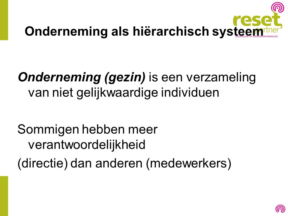 Onderneming als hiërarchisch systeem