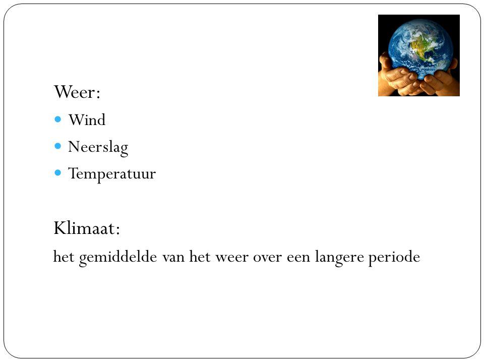 Weer: Klimaat: Wind Neerslag Temperatuur