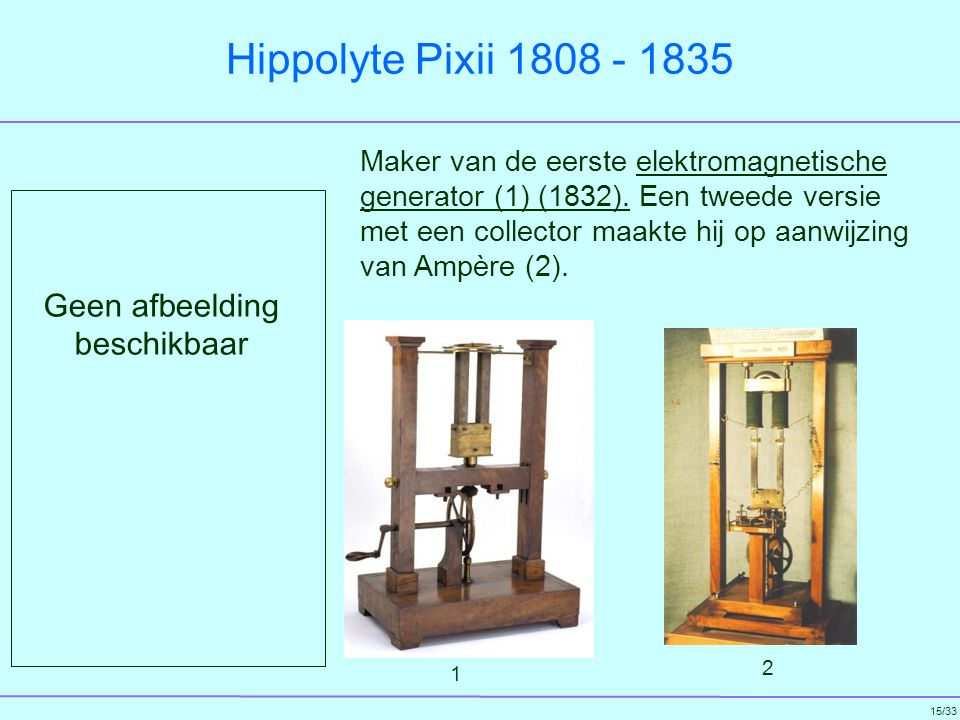 Hippolyte Pixii 1808 - 1835 Geen afbeelding beschikbaar