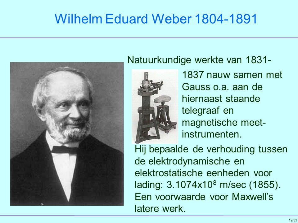 Wilhelm Eduard Weber 1804-1891 Natuurkundige werkte van 1831-
