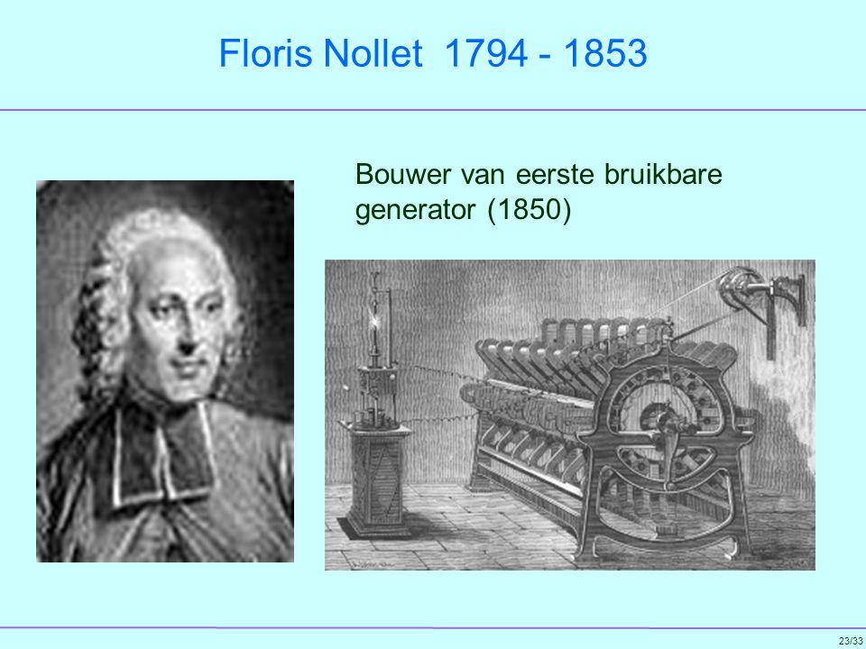 Floris Nollet 1794 - 1853 Bouwer van eerste bruikbare generator (1850)