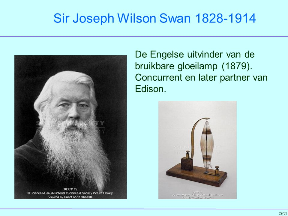 Sir Joseph Wilson Swan 1828-1914