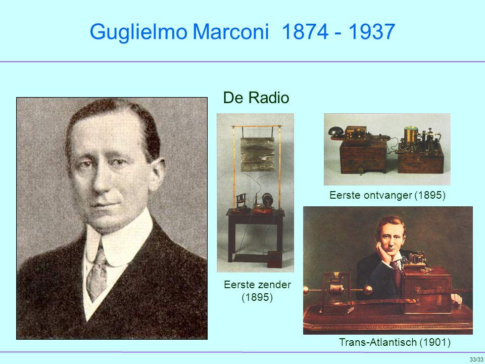 Guglielmo Marconi 1874 - 1937 De Radio Eerste ontvanger (1895)