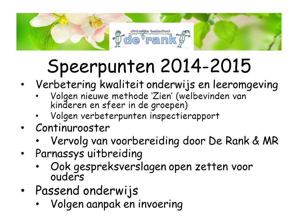 Speerpunten 2014-2015 Passend onderwijs