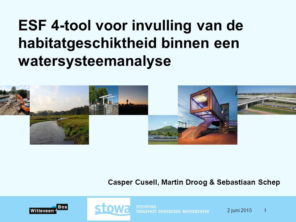 ESF 4-tool voor invulling van de habitatgeschiktheid binnen een watersysteemanalyse