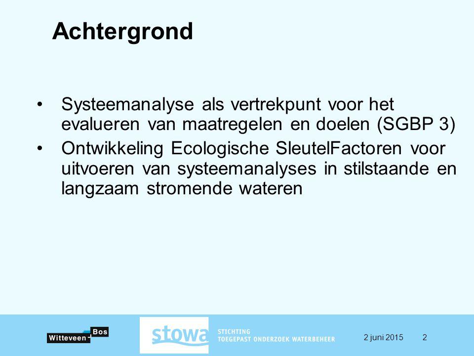 Achtergrond Systeemanalyse als vertrekpunt voor het evalueren van maatregelen en doelen (SGBP 3)