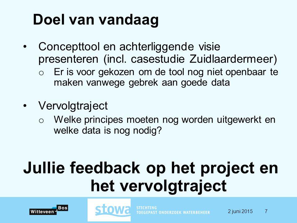 Jullie feedback op het project en het vervolgtraject