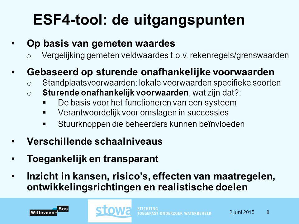 ESF4-tool: de uitgangspunten