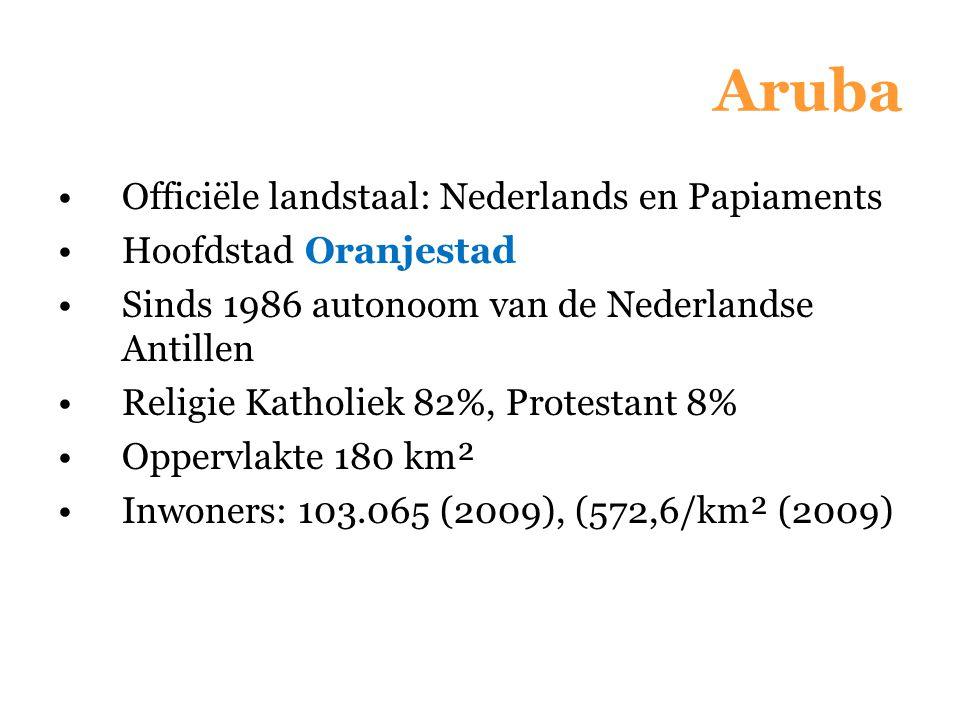 Aruba Officiële landstaal: Nederlands en Papiaments