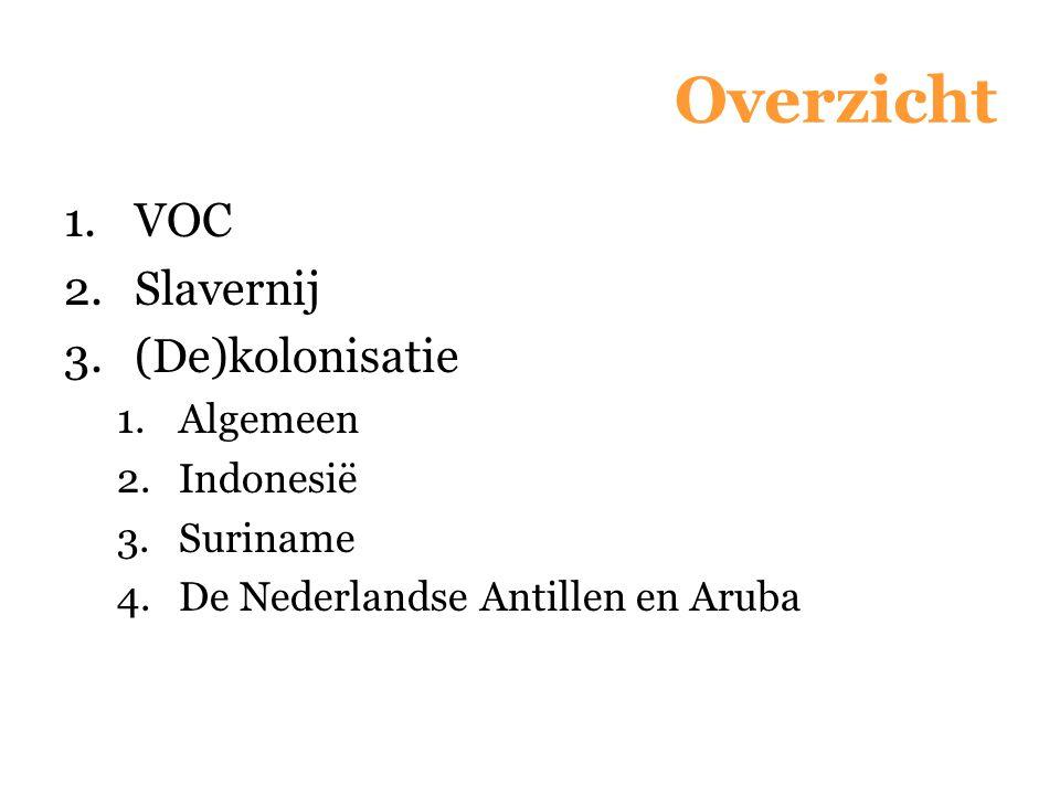 Overzicht VOC Slavernij (De)kolonisatie Algemeen Indonesië Suriname