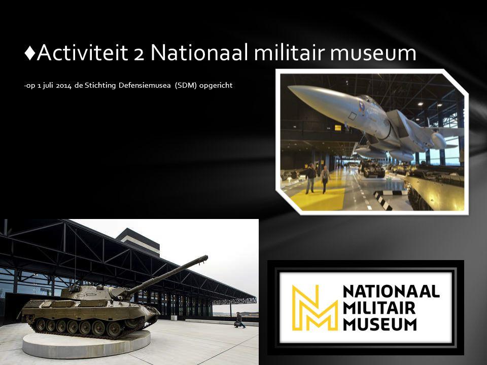 ♦Activiteit 2 Nationaal militair museum