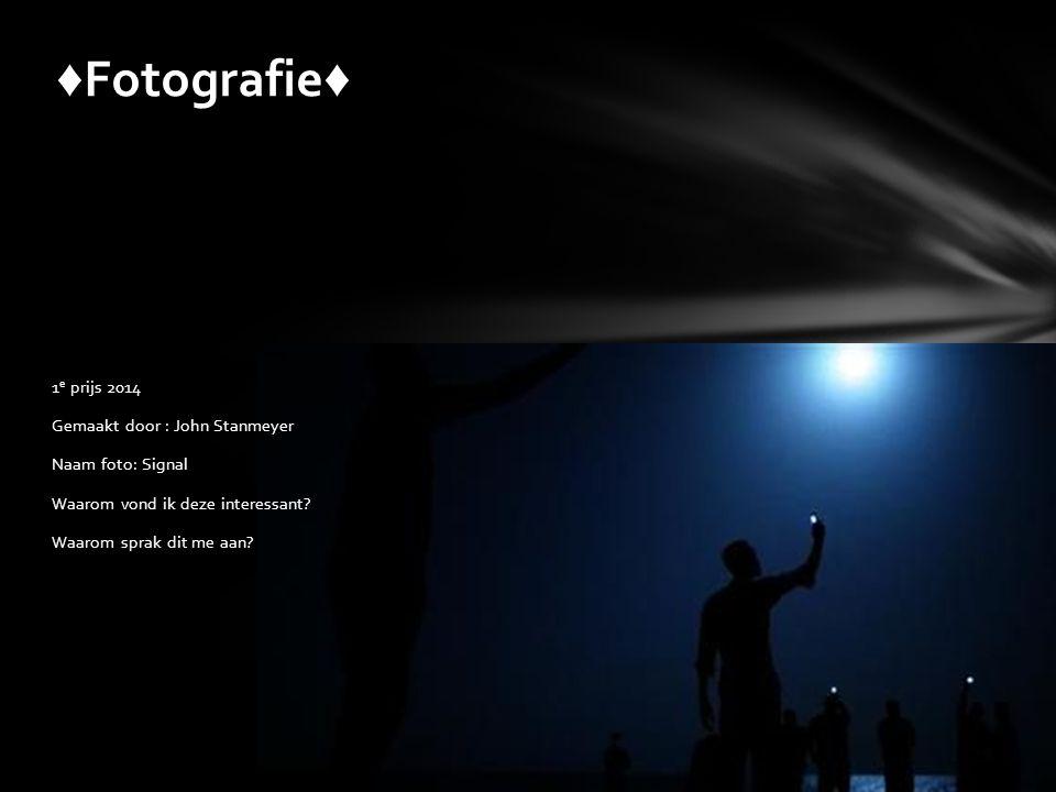 ♦Fotografie♦ 1e prijs 2014 Gemaakt door : John Stanmeyer Naam foto: Signal Waarom vond ik deze interessant.
