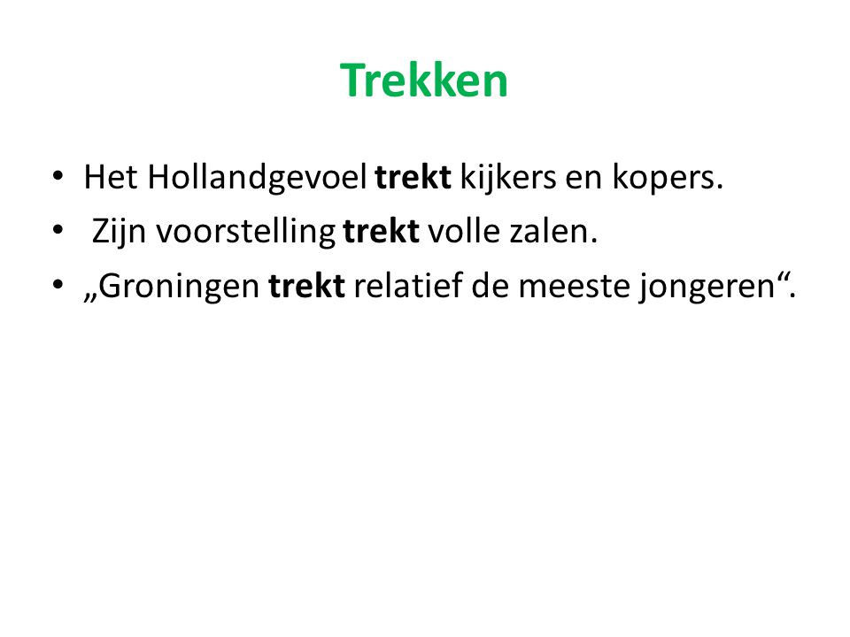Trekken Het Hollandgevoel trekt kijkers en kopers.