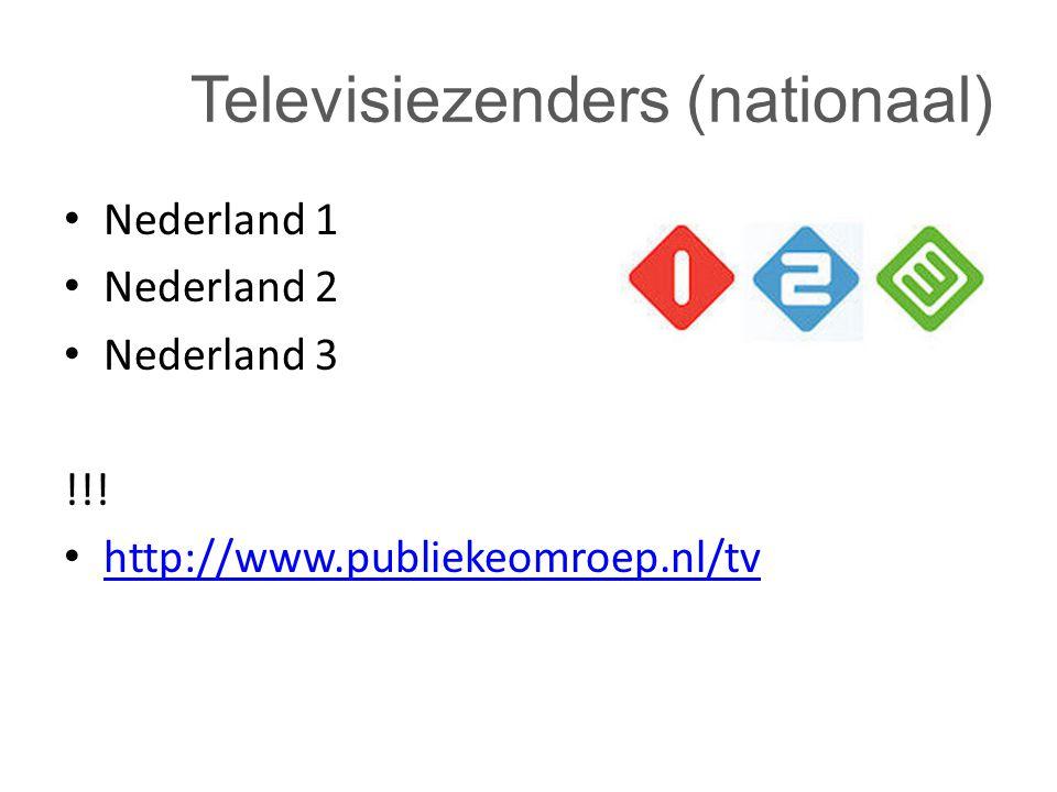 Televisiezenders (nationaal)