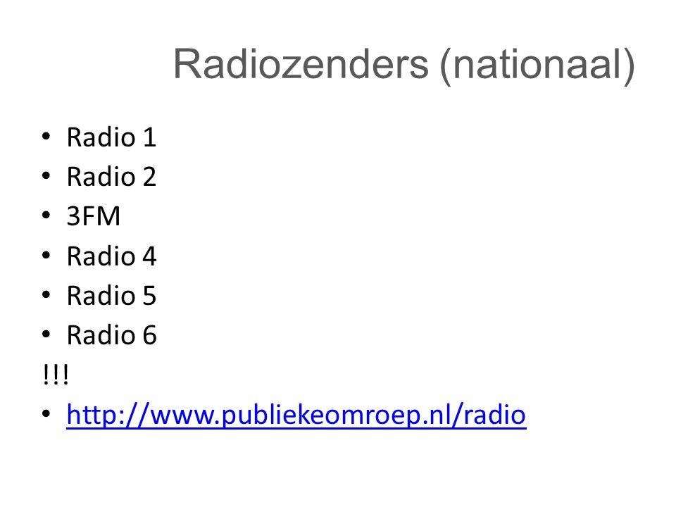 Radiozenders (nationaal)