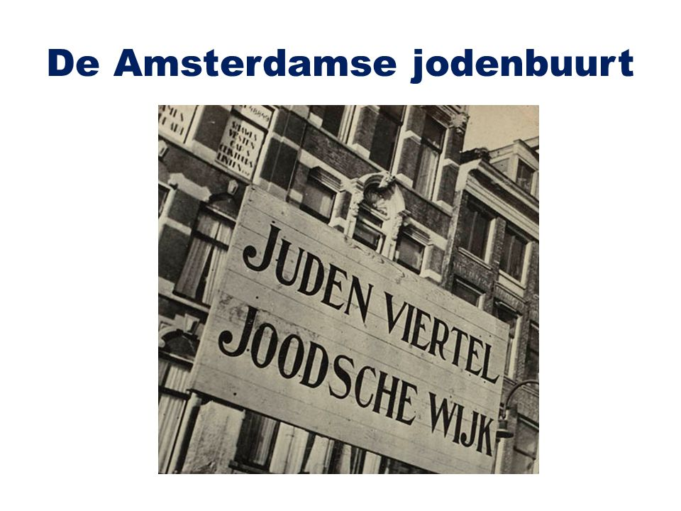 De Amsterdamse jodenbuurt