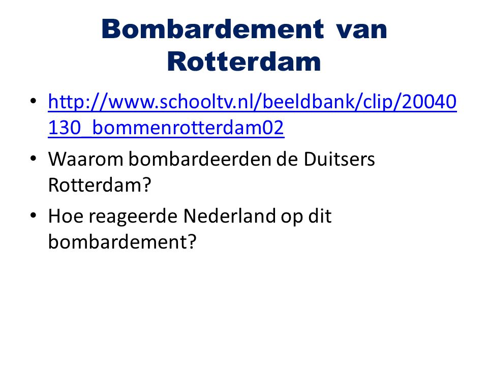 Bombardement van Rotterdam