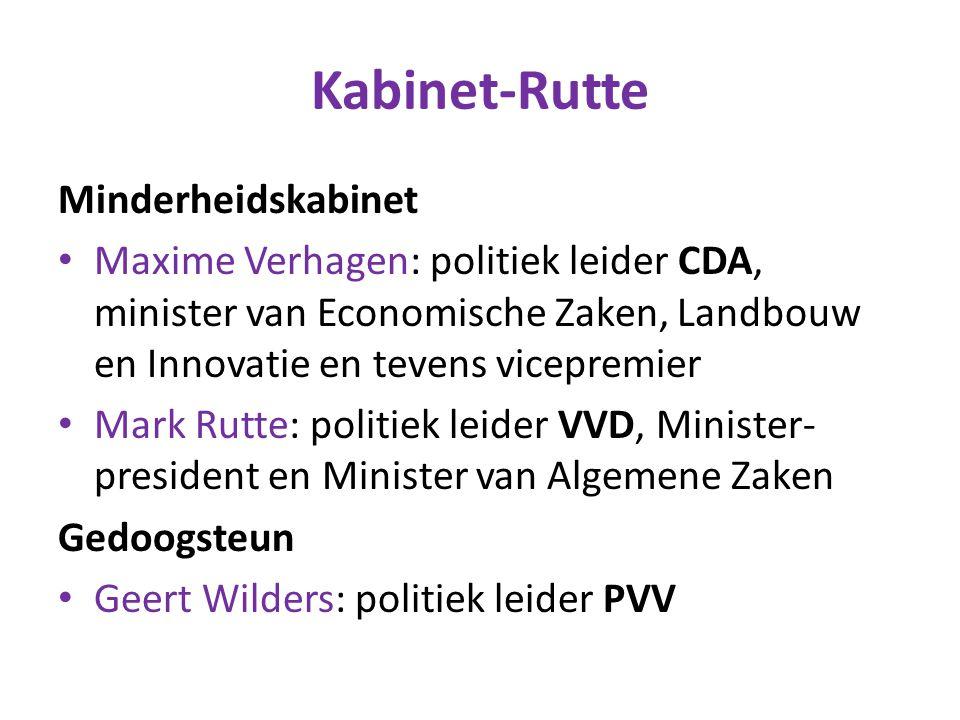 Kabinet-Rutte Minderheidskabinet