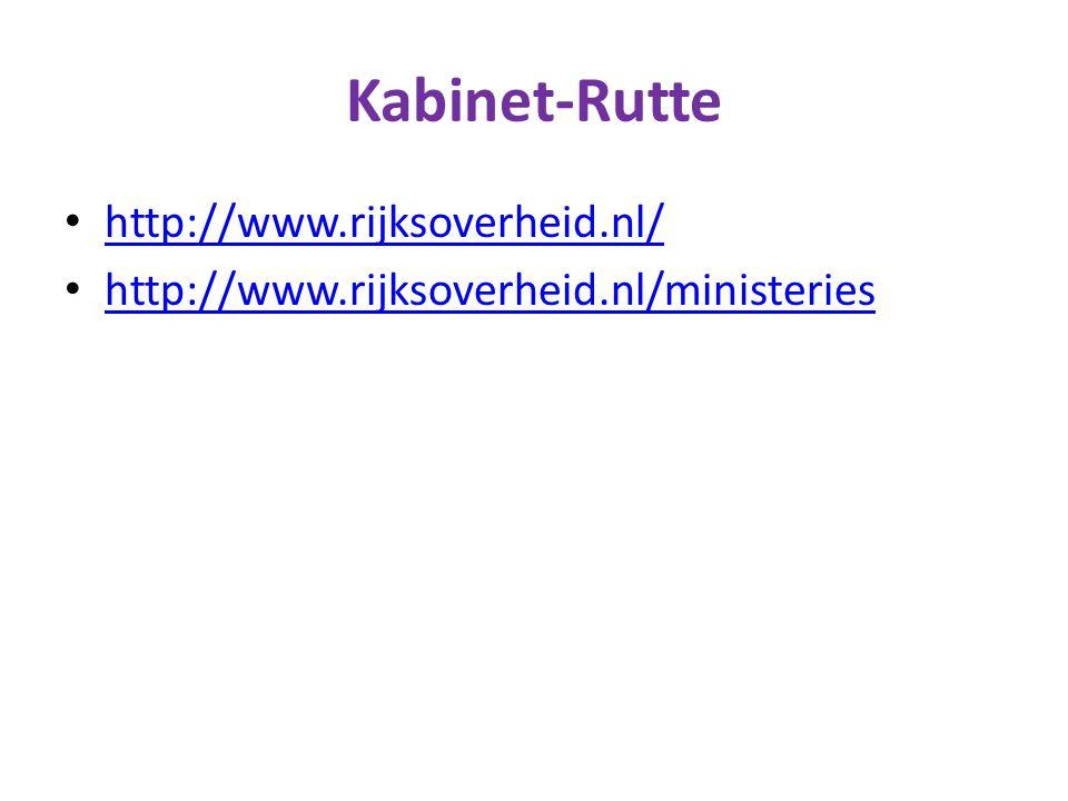 Kabinet-Rutte http://www.rijksoverheid.nl/