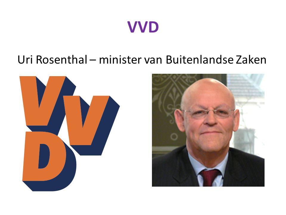 VVD Uri Rosenthal – minister van Buitenlandse Zaken