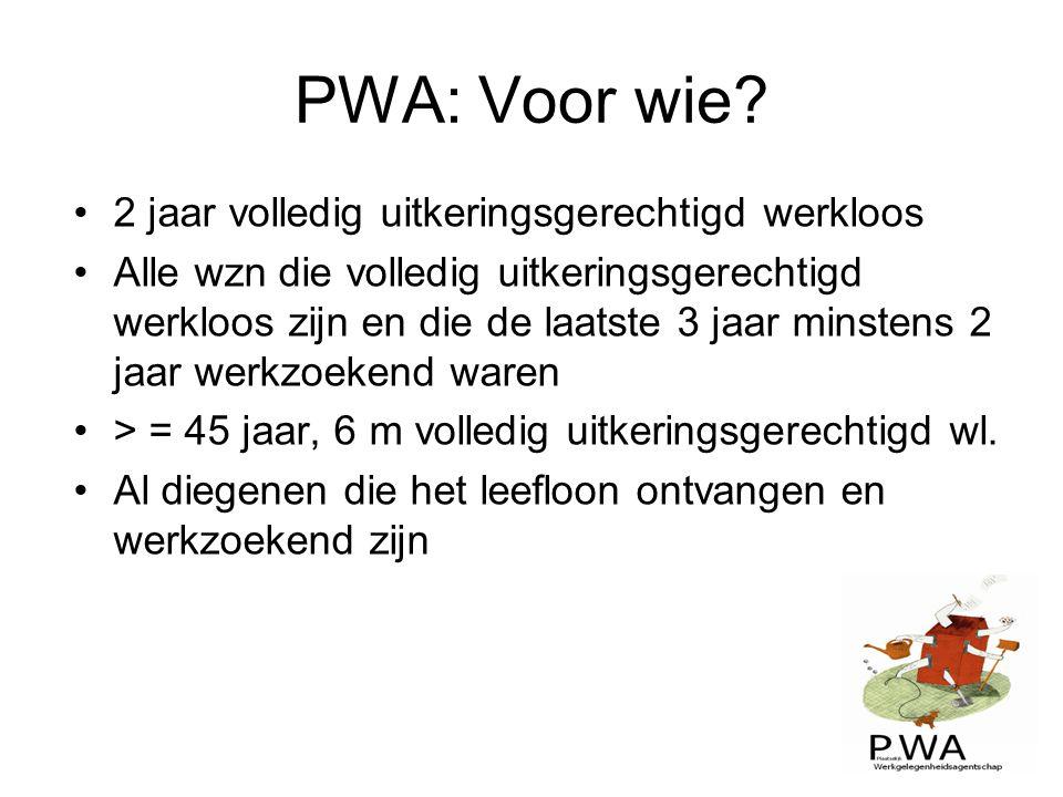 PWA: Voor wie 2 jaar volledig uitkeringsgerechtigd werkloos