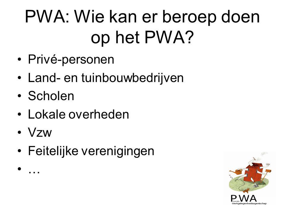 PWA: Wie kan er beroep doen op het PWA