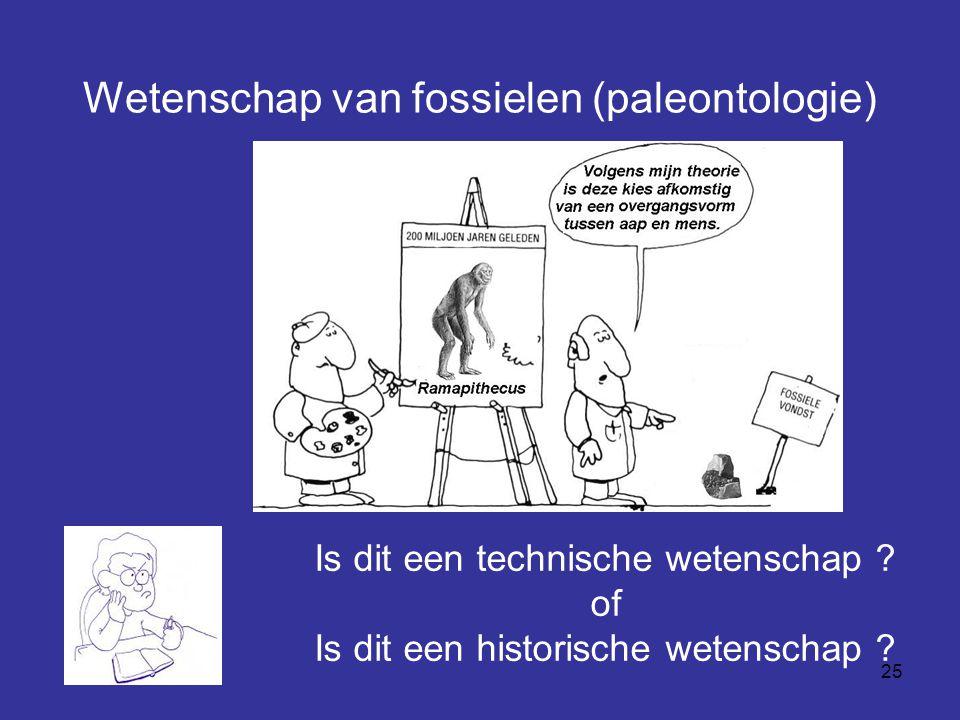 Wetenschap van fossielen (paleontologie)