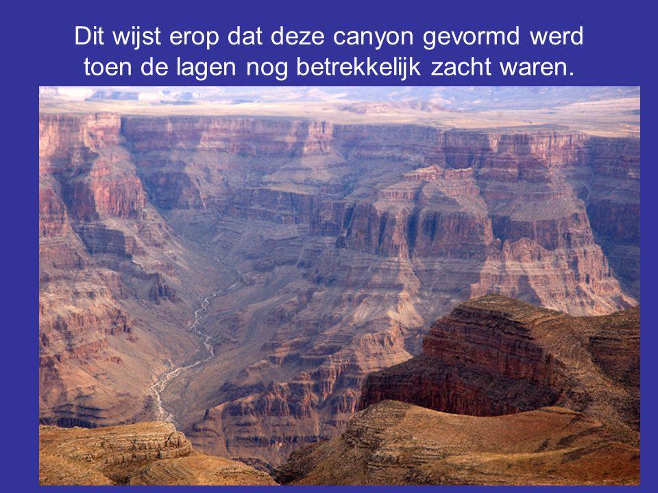 Dit wijst erop dat deze canyon gevormd werd toen de lagen nog betrekkelijk zacht waren.