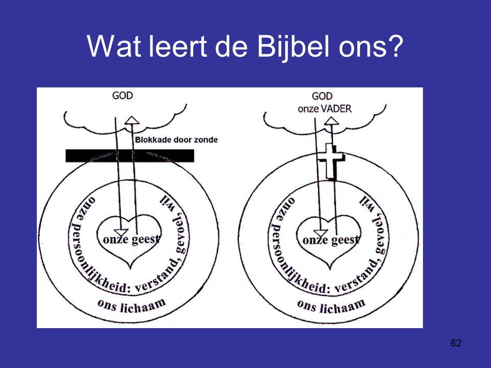 Wat leert de Bijbel ons